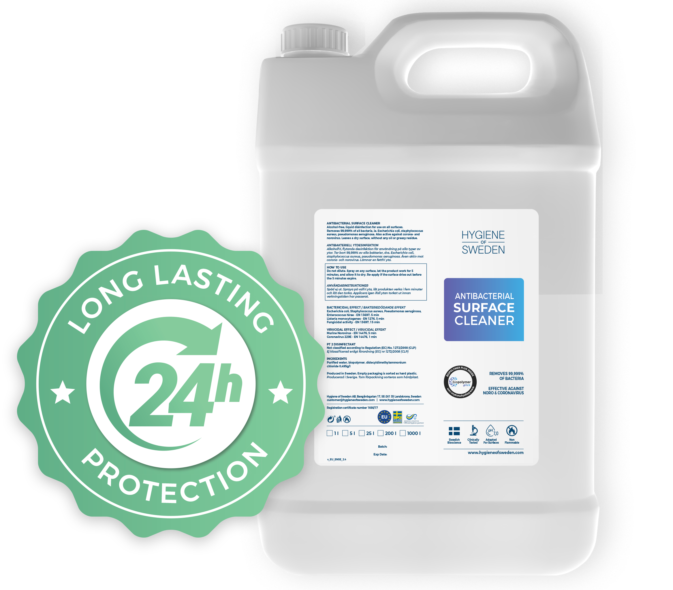 Surface Cleaner 24 hour protection